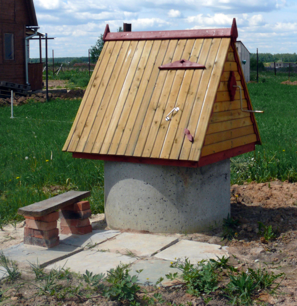 Стандартный домик для колодца